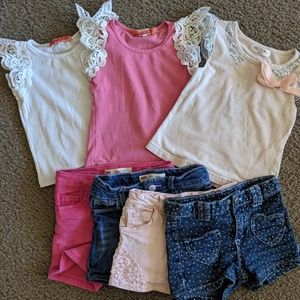 Other - 7pc Girl's 3T Clothes Lot/Bundle Tops + Shorts